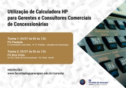 Cartaz A3 - Curso HP 12c