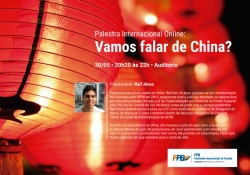 Cartaz A3 - Evento FPB - Palestra Internacional