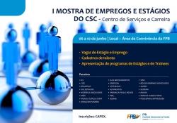 Cartaz - Mostra de Empregos e estágio - FPB