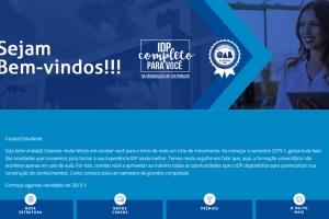 Campanha Boas-Vindas IDP 2019.1
